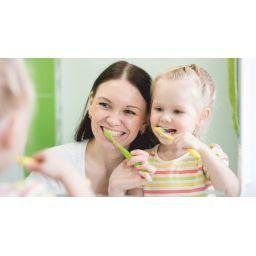 Dientes sanos. El cuidado de la boca
